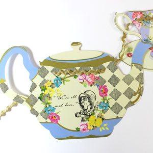 alice in wonderland tea party accessories uk