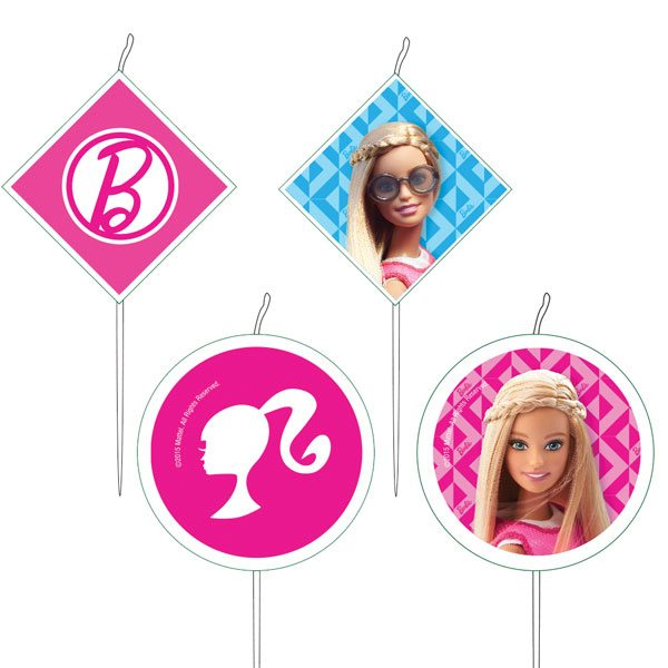 Barbie Party Birthday Cake Candles
