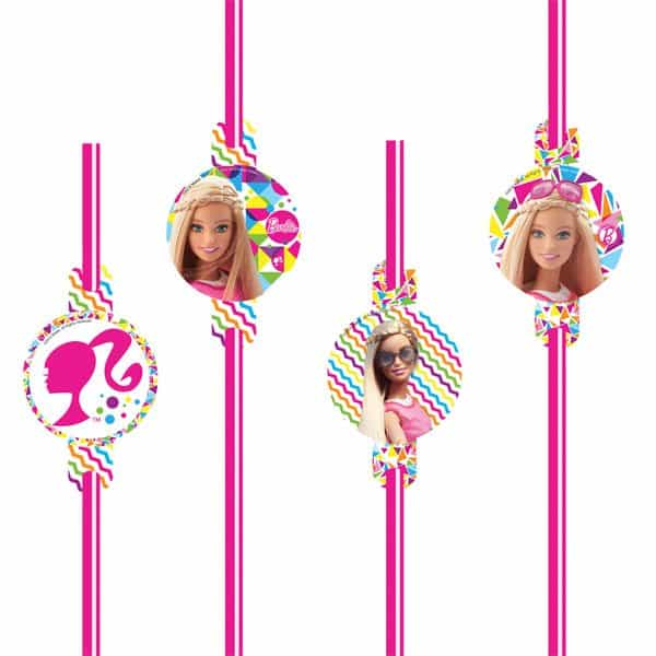 Barbie Party Drinking Straws