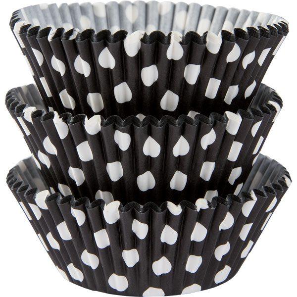 Black Dot Cupcake Cases