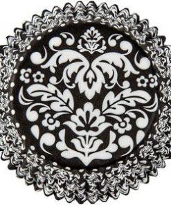 Black & White Damask Cupcake Cases