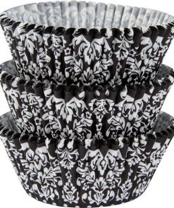 Black & White Damask Cupcake Cases