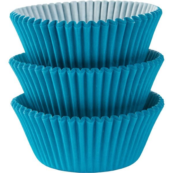 Caribbean Turquoise Blue Cupcake Cases
