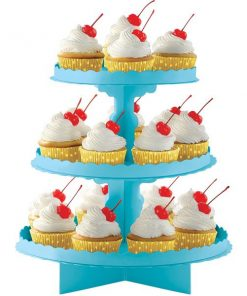Caribbean Turquoise Blue Cupcake Stand