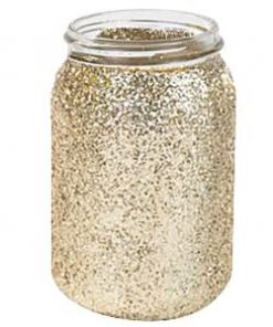Wedding Pastel Perfection Gold Glitter Jar