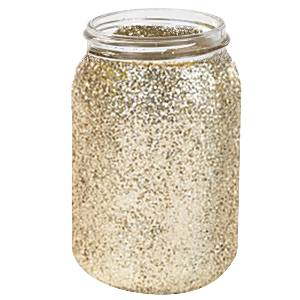 Wedding Pastel Perfection Gold Glitter Jar