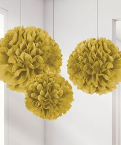 Gold Pom Pom Decorations