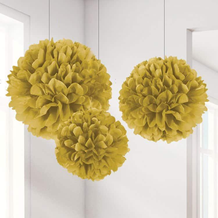 Gold Pom Pom Decorations
