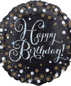 Happy 18th Birthday Gold Sparkling Celebration Balloon