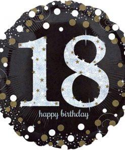 Sparkling Celebration Party Happy 18th Birthday Foil Balloon