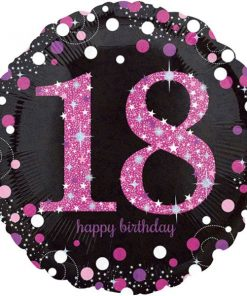 Pink Celebration Party Happy 18th Birthday Foil Balloon