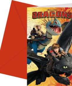 How To Train Your Dragon Party Invitation Cards