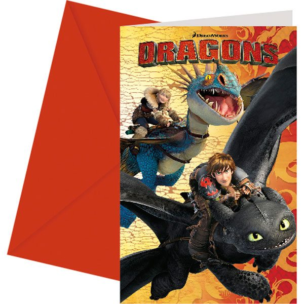 How To Train Your Dragon Party Invites Fun Party Supplies