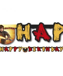 How To Train Your Dragon Party Happy Birthday Banner