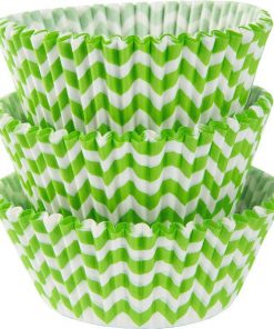Kiwi Lime Green Chevron Cupcake Cases