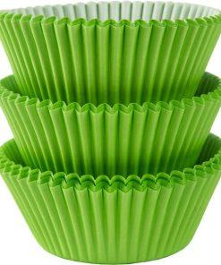 Kiwi Green Cupcake Cases