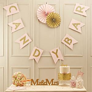 Wedding Pastel Perfection Candy Bar Bunting