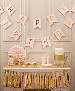 Pastel Perfection Happy Birthday Bunting