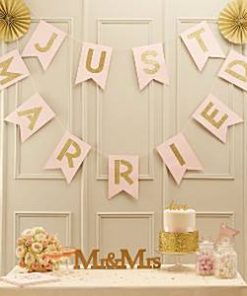 Wedding Pastel Perfection Just Married Bunting
