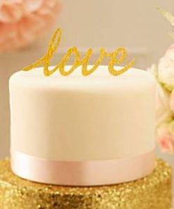Wedding Pastel Perfection 'Love' Cake Topper