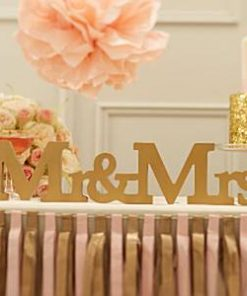 Wedding Pastel Perfection Mr & Mrs Wooden Sign