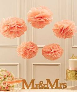 Wedding Pastel Perfection Pink Pom Pom Decorations