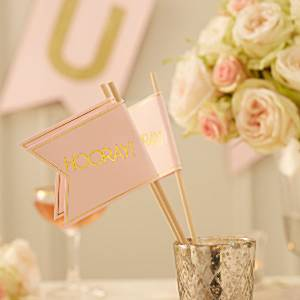 Wedding Pastel Perfection Wedding Flags