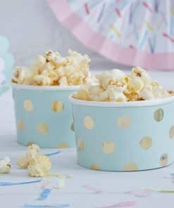 Pick & Mix Party Mint Metallic Polka Dot Treat Tubs