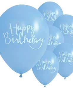 Pick & Mix Party Happy Birthday Blue Printed Latex Balloons