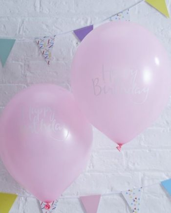 Pick Mix Happy Birthday Pink Balloons