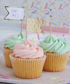 Pick & Mix Party Gold Polka Dot Cupcake Picks