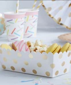 Pick & Mix Party Metallic Polka Dot Food Trays