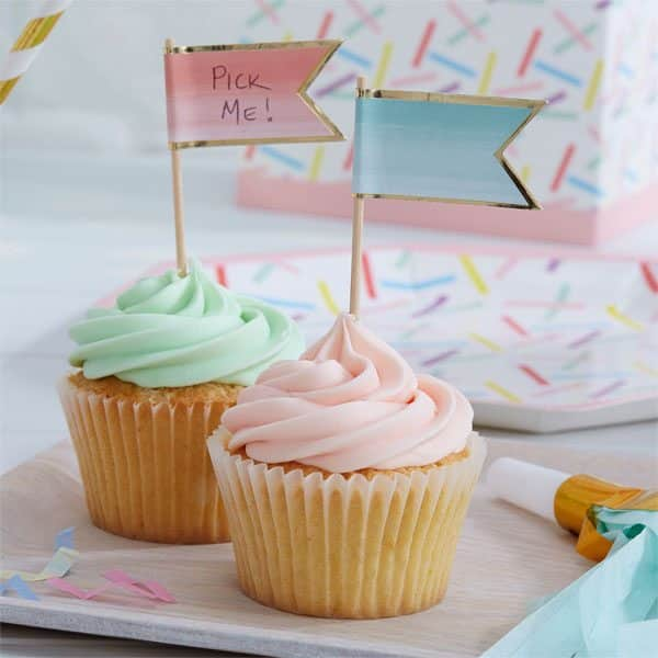 Pick & Mix Party Ombre Cupcake Picks