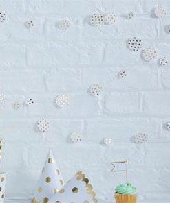 Pick & Mix Party Gold Metallic Polka Dot Confetti Garland