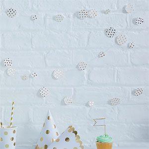 Pick mix party gold metallic polka dot confetti garland for Gold dot garland
