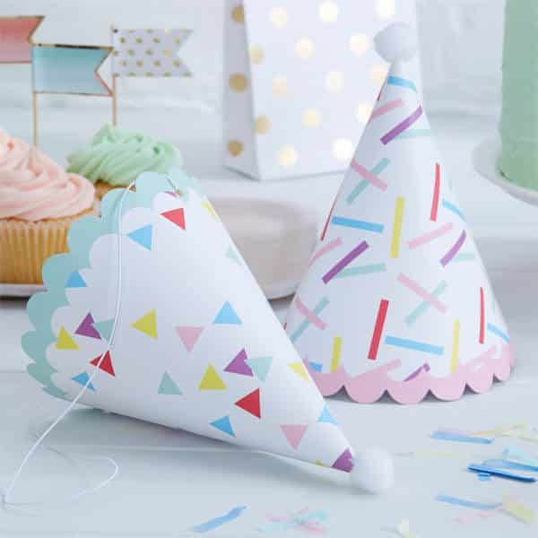 Pick & Mix Party Sprinkles Party Cone Hats