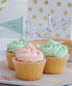 Pick & Mix Party Sprinkles Cupcake Picks