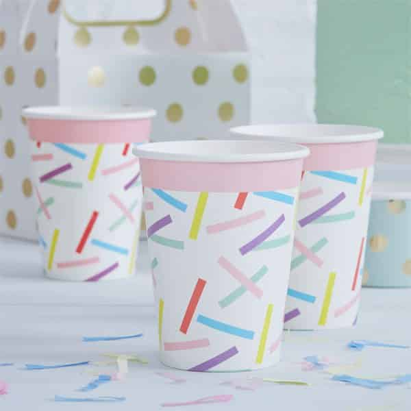 Pick & Mix Party Sprinkles Paper Party Cups