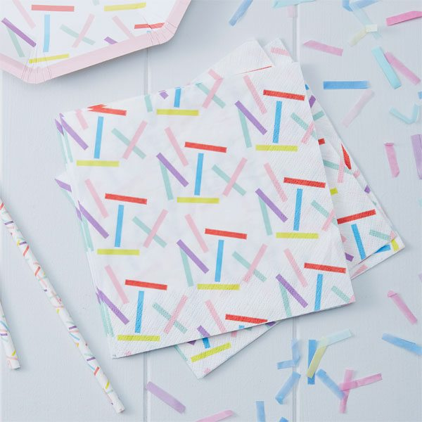 Pick & Mix Party Sprinkles Paper Napkins