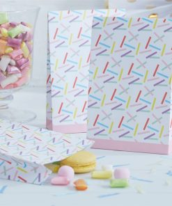 Pick & Mix Party White Sprinkles Paper Party Bags