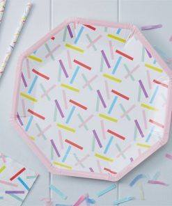 Pick & Mix Party Sprinkles Paper Plates