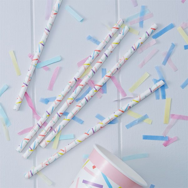 Pick & Mix Party Sprinkles Straws