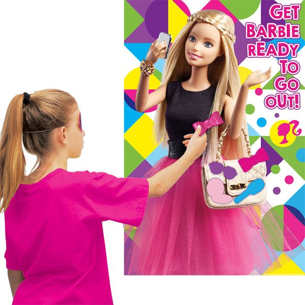 Barbie Party Pin the Bow Party Game