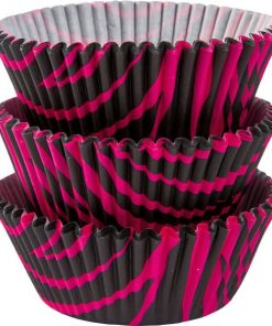 Pink & Black Zebra Cupcake Cases