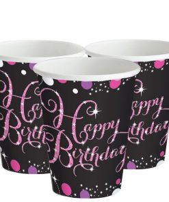 Pink Celebration Party Paper Cups