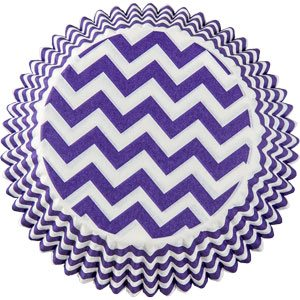 Purple Chevron Cupcake Cases