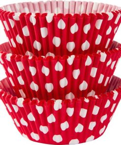 Red Dot Cupcake Cases