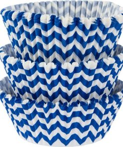 Royal Blue Chevron Cupcake Cases