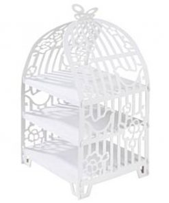 Wedding Something in the Air Birdcage 3 Tier Cupcake Stand