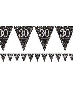 Sparkling Celebration Party Age 30 Prismatic Foil Bunting